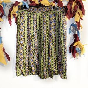 Mid length Skirt with elastic waistband